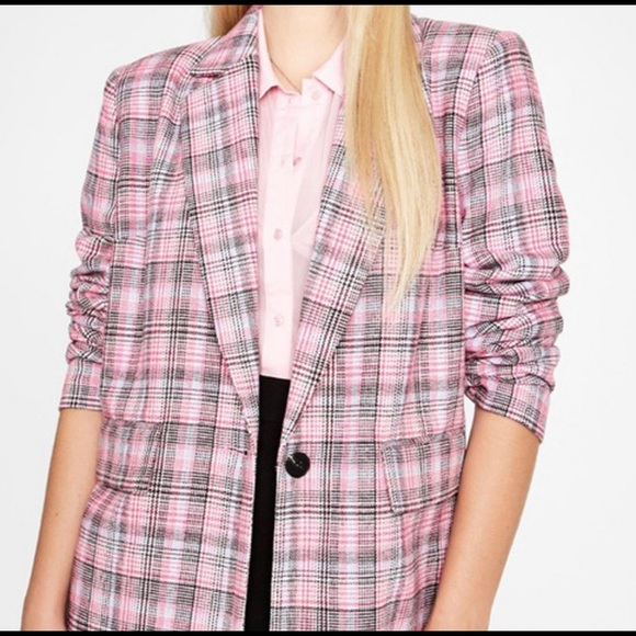 Dolls Kill Jackets & Blazers - Dolls Kill Sugar Thrillz Pink Plaid Blazer S